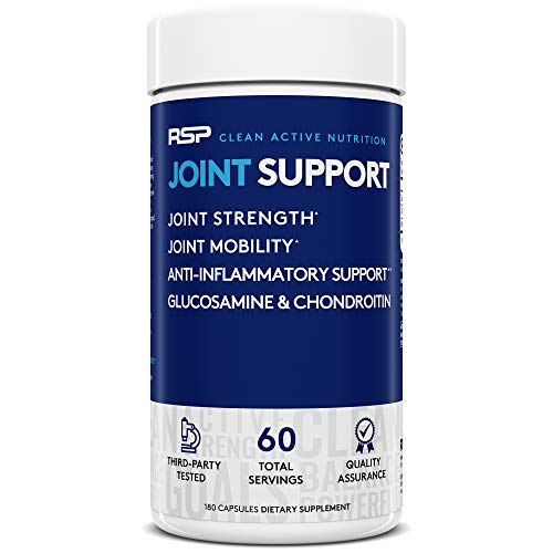 RSP Glucosamine Chondroitin MSM, Joint Support Supplement for Men and Women, Triple Strength Anti Inflammatory, Antioxidant Joint Pain Relief, 180 Caps (Packaging May Vary)