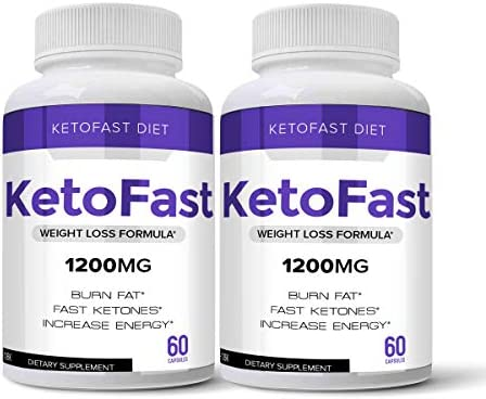 Keto Fast Diet Pills, Keto Fast Burn Weight Management Capsules - Pure Keto Supplement for Energy, Focus - Ultra Boost Exogenous Ketones for Rapid Ketosis for Men and Women - 2 Bottles 1