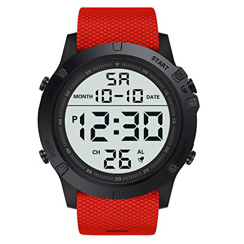 Best Gift!!!Redvive Top Fashion Men's Military Sports Watch Luxury LED Digital Water Resistant Watch