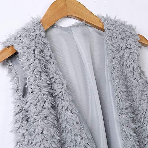 Jushye Faux Fur Vest, Women's Winter Warm Outwear Casual Zip Up Sherpa Jacket Coat