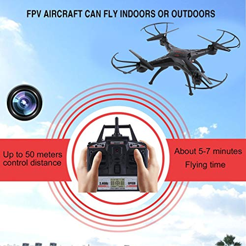 Drone With HD Camera RC 6-Axles Helicopter Easy to Fly Even to Kids and Beginners With Auto Hovering, Headless Mode and Remote Control