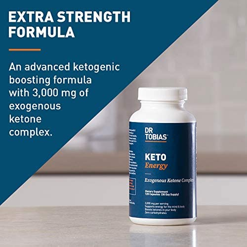 Dr Tobias Keto Energy Pills - 3,000mg of Exogenous Ketone Complex - 120 Count 3