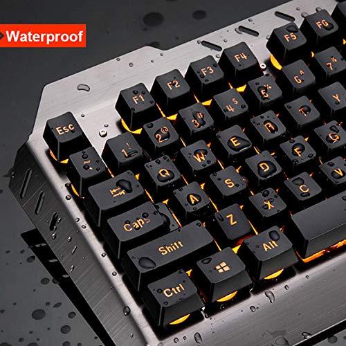 RONSHIN Electronics Computer Desktop Gaming Keyboard and Mouse Mechanical Feel LED Light Backlit