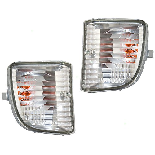 Driver and Passenger Park Signal Front Marker Lights Lamps Lenses Replacement for Toyota SUV 81521-42050 81511-42050