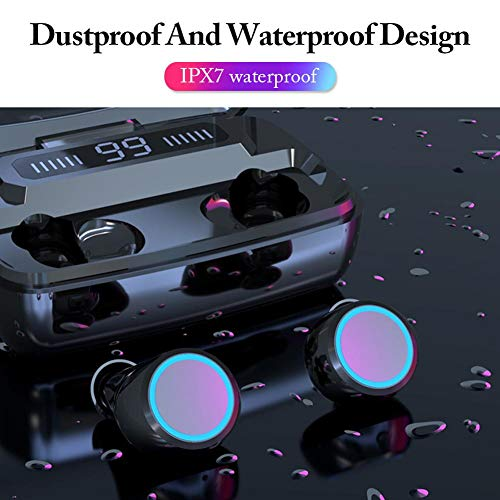 szkn M11 TWS Wireless Earphones LED Digital Display Touch Control Bluetooth 5.0 IPX7 Waterproof Mini Headset with 3300mAh Charging Base M11