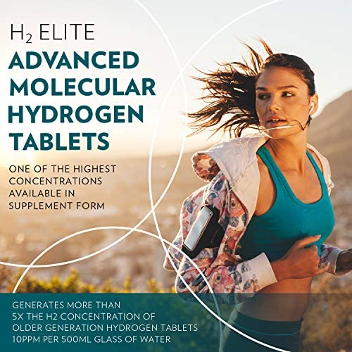 Quicksilver Scientific H2 Elite Tablets - High Dose Molecular Hydrogen Water Additive for Energy Support, Perfect for Open Containers - Antioxidant Hydrating Drink (60 Dissolving Tablets) 3