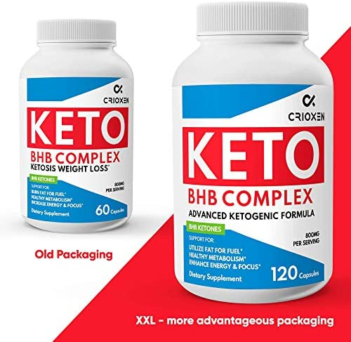 Keto Pure Diet Pills 120 Capsules- Advanced Keto Supplement Pure BHB Exogenous Instant Ketones Salts to Kickstart Ketosis Boost Energy and Focus for Men and Women 60 Day Supply 10