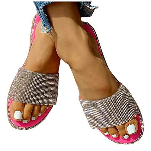 Sandals for Women Wide Width,Women's 2020 Comfy Platform Sandal Shoes Summer Beach Travel Fashion Slipper Flip Flops