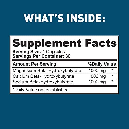 Dr Tobias Keto Energy Pills - 3,000mg of Exogenous Ketone Complex - 120 Count 4