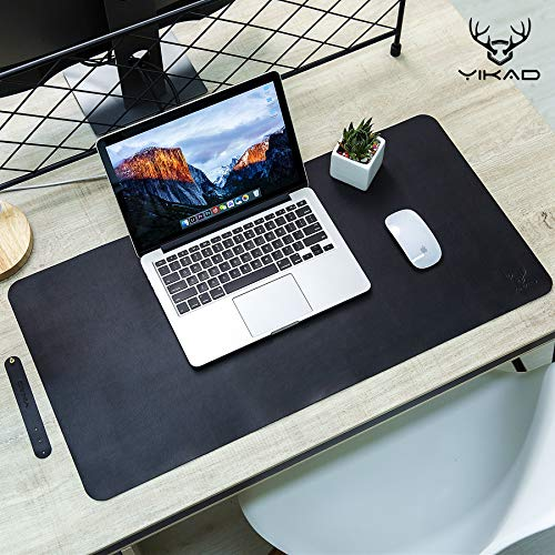"Yikda Extended Leather Mouse Pad/Mat, Large Office Writing Gaming Desk Computer Leather Mat Mousepad,Waterproof,Ultra Thin 1.2mm - 31""x15.5"""