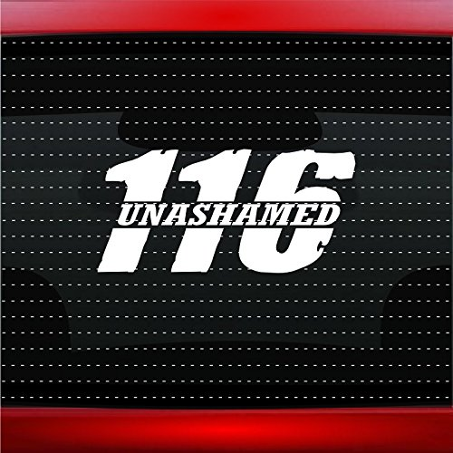 Noizy Graphics Unashamed #2 Romans 116 Christian Car Sticker Truck Window Vinyl Decal Color: Burgundy