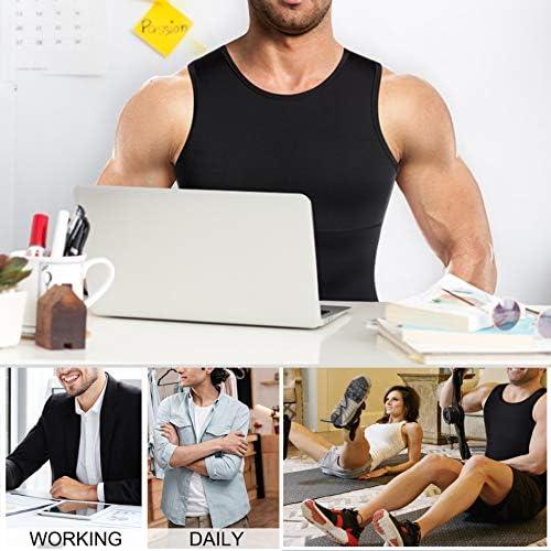 Mens Compression Shirt Slimming Body Shaper Vest Workout Tank Tops Abs Abdomen Undershirts 6