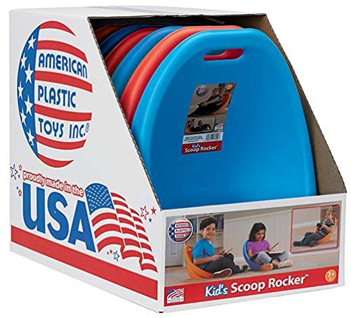 American Plastic Toy Kid's Scoop Rocker 6-Pack in Bright Colors Made in USA in Colorful Box Perfect for Storage