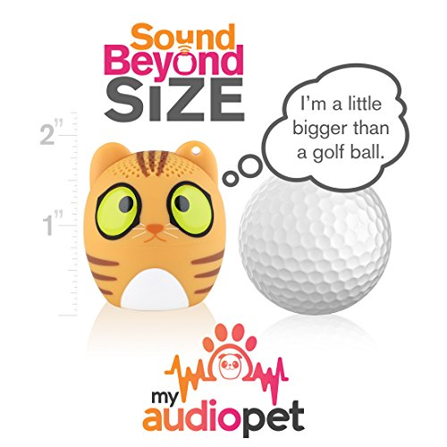 My Audio Pet Mini Bluetooth Animal Wireless Speaker with True Wireless Stereo Technology – Pair with Another TWS Pet for Powerful Rich Room-Filling Sound – (Classical Cat)