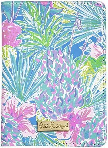 Lilly Pulitzer Passport Cover/Holder/Wallet with Card Slots, Swizzle In