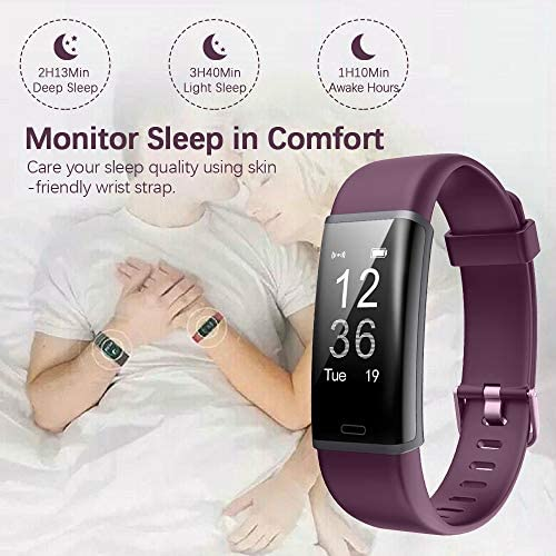 Lintelek Fitness Tracker Heart Rate Monitor, Activity Tracker, Pedometer Watch with Connected GPS, Waterproof Calorie Counter, 14 Sports Modes Step Tracker for Women, Men and Gift 8