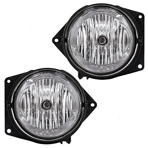 Aftermarket Replacement Driver and Passenger Set Fog Lights Compatible with 2006-2010 H3 2009-2010 H3T Pickup Truck 15807157 15807158