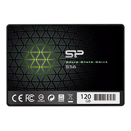 """Silicon Power 120GB SSD 3D NAND With R/W Up To 560/530MB/s S56 SLC Cache Performance Boost SATA III 2.5"""" 7mm (0.28"""") Internal Solid State Drive (SP120GBSS3S56B25AZ)"""
