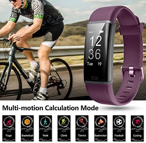 Lintelek Fitness Tracker Heart Rate Monitor, Activity Tracker, Pedometer Watch with Connected GPS, Waterproof Calorie Counter, 14 Sports Modes Step Tracker for Women, Men and Gift 5