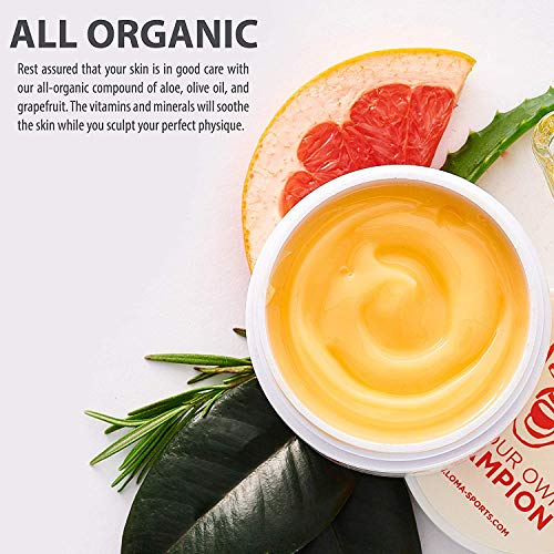 LOMA Hot Cream- Premium Workout Sweat Cream - Slimming Cream for Belly Women Men - Heating Cream - Aloe Extract - Lipo Gel Cellulite for Abdomen and Waist -Bonus Meal Plan 5