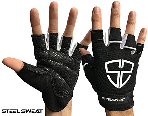 Steel Sweat Workout Gloves - Best for Gym, Weightlifting, Fitness, Training and Crossfit - Made for Men and Women who Love Weightlifting & Exercise – RUE