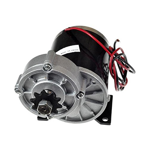 Monster Motion 36 Volt 600 Watt MY1020Z Gear Reduction Electric Motor with 10 Tooth #40 Chain Sprocket and Bracket