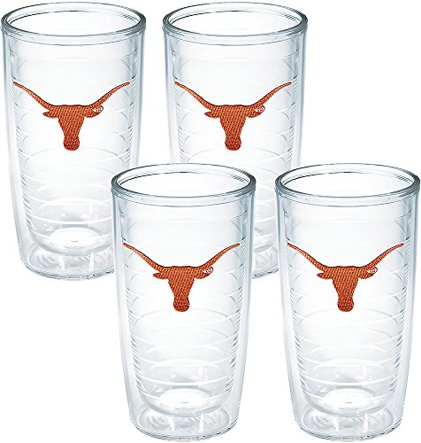 Tervis Texas University Emblem Tumbler (Set of 4), 16 oz, Clear - 1008145