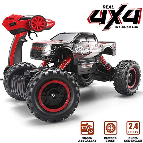 Blexy RC Car Off-Road Rock Crawler 2.4Ghz 4WD Remote Control Vehicle 1/14 Electric Racing Monster Truck (Red)
