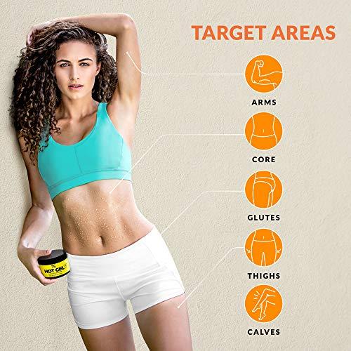 Hot Vita Hot Gel – Sweat Cream Workout Enhancer Belly Slimming Gel (6 oz) 4