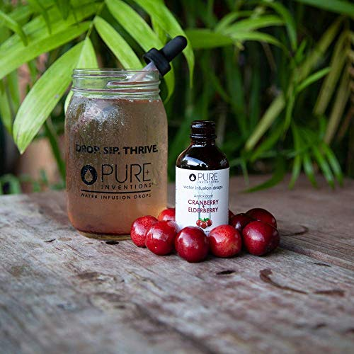 Pure Inventions Water Infusion Drops Duo Set – Coconut Water (30 Servings) and Cranberry Elderberry (60 Servings) Combo – Water Enhancer for Antioxidants, Wellness, and Hydration 6