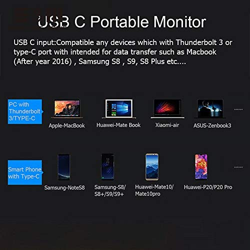 15.6 inch 3840x2160 4K HDR IP Monitor Portable Screen Type C for NS Switch Xbox PS4 Games Mac Mini Display