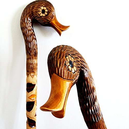 oleksandr.victory Cane Walking Stick Wooden Handmade Men's Accessories (Badger) (Duck)