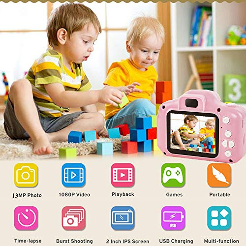 XXMANX Kids Digital Camera 1080P HD Photography Video Function with 32GB Memory Card for 3 4 5 6 Years Old Boys Girls
