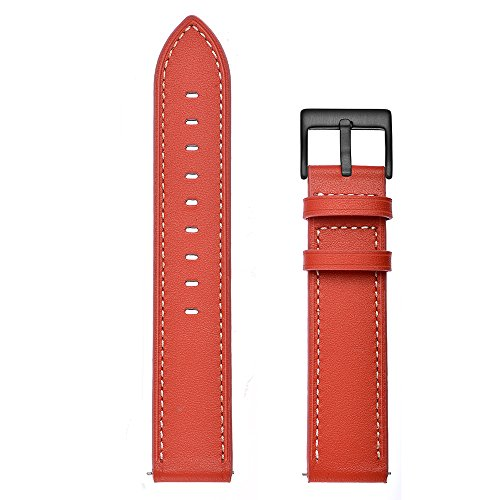 Aottom Compatible for Samsung Galaxy Watch Active 40mm Band Leather 20MM Smart Watch Replacement Band Metal Bracelet Wristband for Samsung Galaxy Watch Active 40mm / Galaxy Watch 42mm / Gear Sport