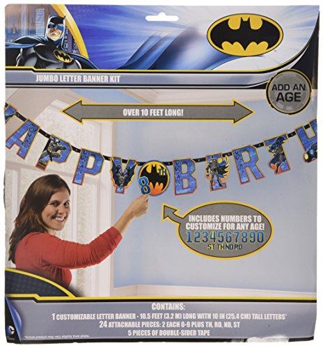 "Batman Jumbo Add-An-Age ""Happy Birthday"" Letter Banner"