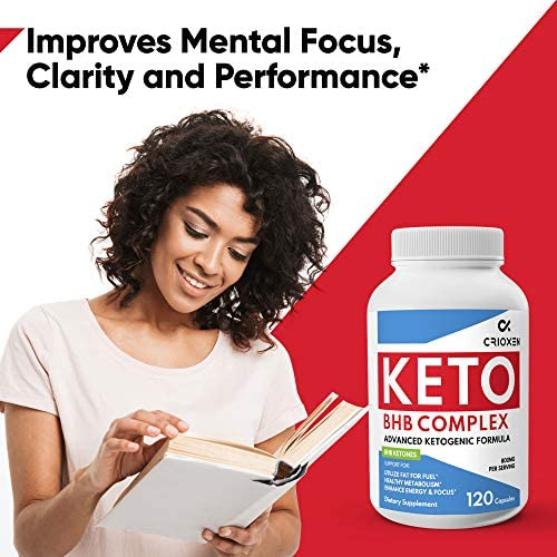 Keto Pure Diet Pills 120 Capsules- Advanced Keto Supplement Pure BHB Exogenous Instant Ketones Salts to Kickstart Ketosis Boost Energy and Focus for Men and Women 60 Day Supply 6