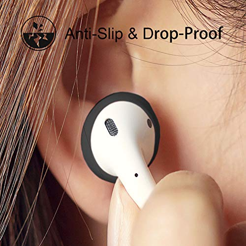 {Fit in Case}Silicon airpods Tips Ear Skins and Covers Replacement Anti Slip Soft eartips Compatible with Apple AirPods 1 & 2 or EarPods Headphones/Earphones/Earbuds (3 Pairs Mixed)
