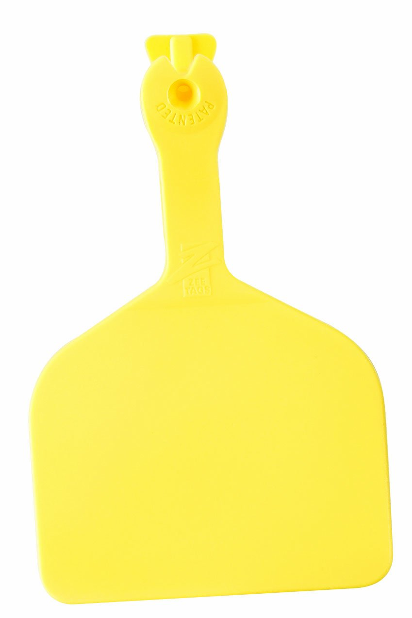 Z Tags 1000 Count 1-Piece Blank Feedlot Tags, Yellow