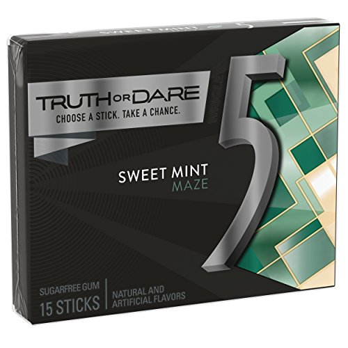 5 GUM Sweet Mint Sugar Free Chewing Gum, 15 pieces (10 pack)