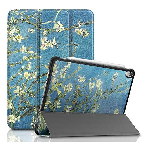 Infiland iPad Pro 11 Case، Tri-Fold Shell Case سازگار با iPad Pro 11 Inch 2018 نسخه (پشتیبانی 2 ژنراتور Apple Pencil شارژ بی سیم ، بیدار کردن خودکار / خواب) ، (شکوفه Premium)
