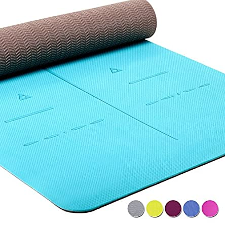 Heathyoga Eco Friendly Non Slip Yoga Mat, Body Alignment...