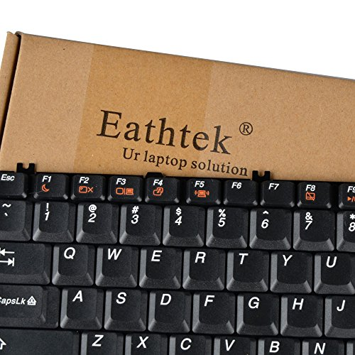 Eathtek Replacement Keyboard Compatible for IBM Lenovo B550 B560 V560 G550 G555 G550A G550AX G550M Series Black US Layout, Compatible Part Number V-105120AS1-US V-105120AS1 25-008409