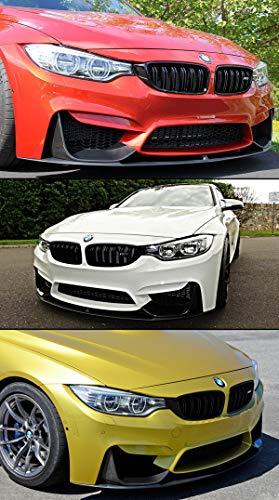 Fits for 2015-2019 BMW F80 M3 F82 F83 M4 Performance Style Carbon Fiber Front Bumper Lip + 2 Pc Splitters Set