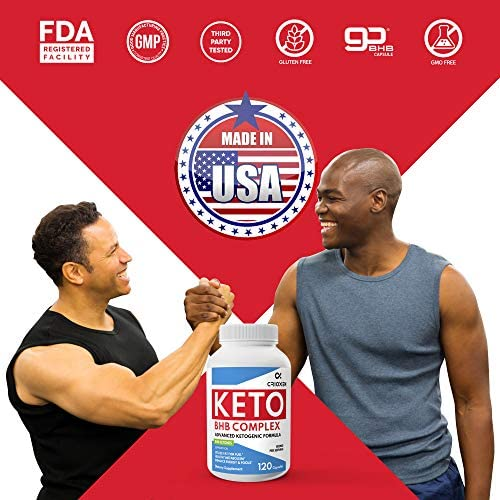 Keto Pure Diet Pills 120 Capsules- Advanced Keto Supplement Pure BHB Exogenous Instant Ketones Salts to Kickstart Ketosis Boost Energy and Focus for Men and Women 60 Day Supply 7