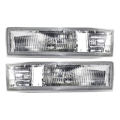 Aftermarket Replacement Driver and Passenger Set Park Signal Side Marker Lights Compatible with 1995-2005 Astro Safari Van 16523211 16523212