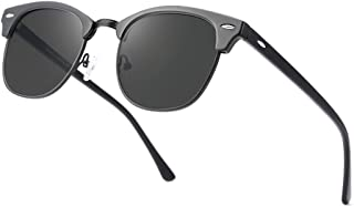 Polarized Sunglasses For Women And Men Semi Rimless Frame...