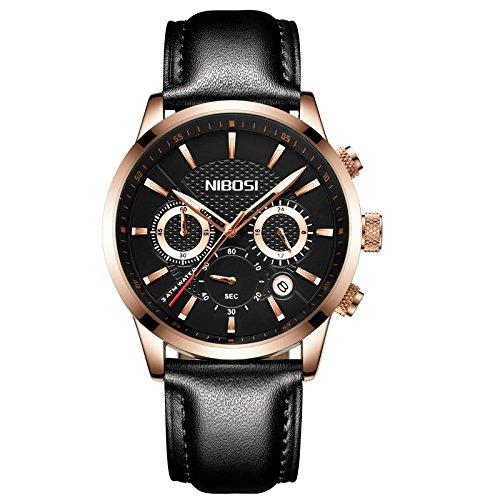 Mens Watches Chronograph Sports Watch Waterproof 30M Full Steel Quartz Business Wristwatch