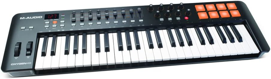 M Audio Oxygen 49 IV | 49 Key USB/MIDI Keyboard With 8 Trigger Pads & A Full Consignment of Production