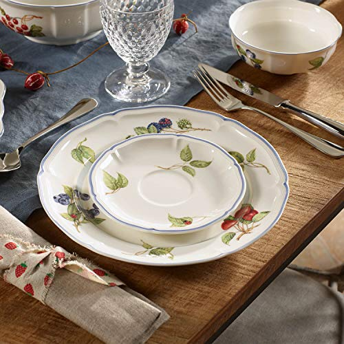 Villeroy & Boch Cottage Dinner Plate, 10.25 in, White/Colorful