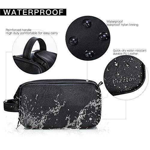 Lizzton Toiletry Bag for Men & Women Large Travel Shaving Dopp Kit Water-resistant Bathroom Toiletries Organizer Bags